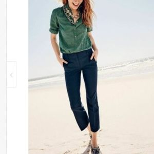 J.Crew Womens 4 Teddie Pants in Navy Blue Cropped